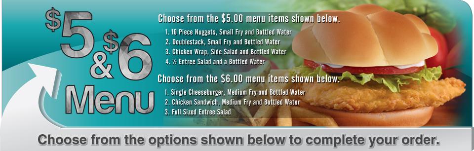 $5 Menu Options
